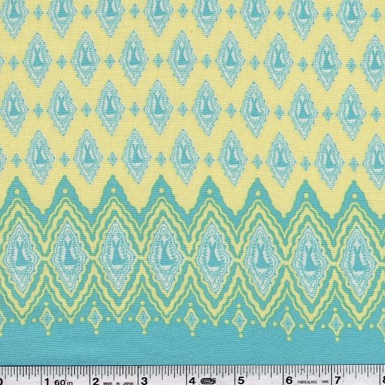 Elfin & Little Friends - Bunny Border - Yellow & Aqua