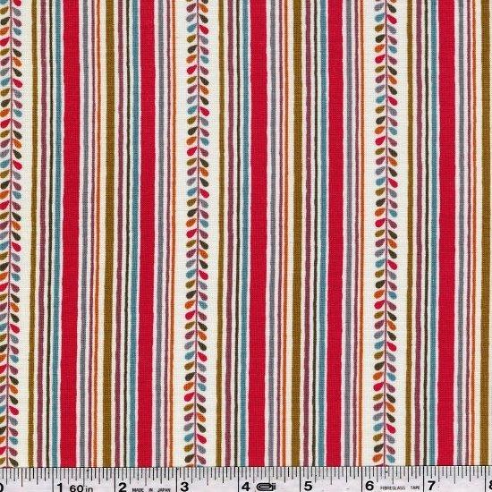 Elfin & Little Friends - Leaf Stripe - Red