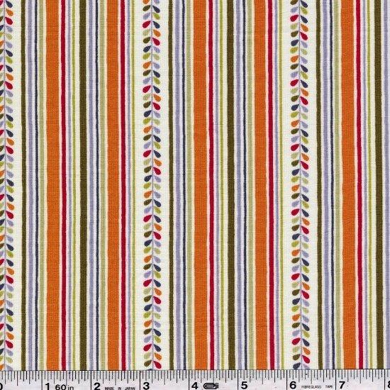 Elfin & Little Friends - Leaf Stripe - Orange