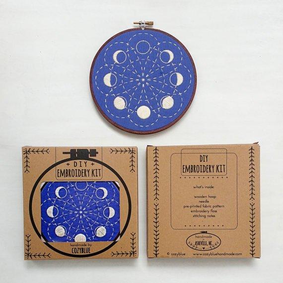 Cozyblue - Lunar Blossom Embroidery Kit
