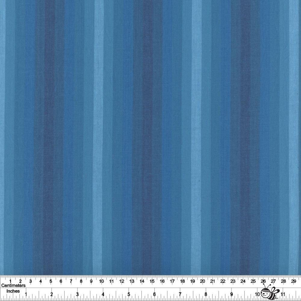 Kaleidoscope Stripes & Plaids - Stripe - Denim