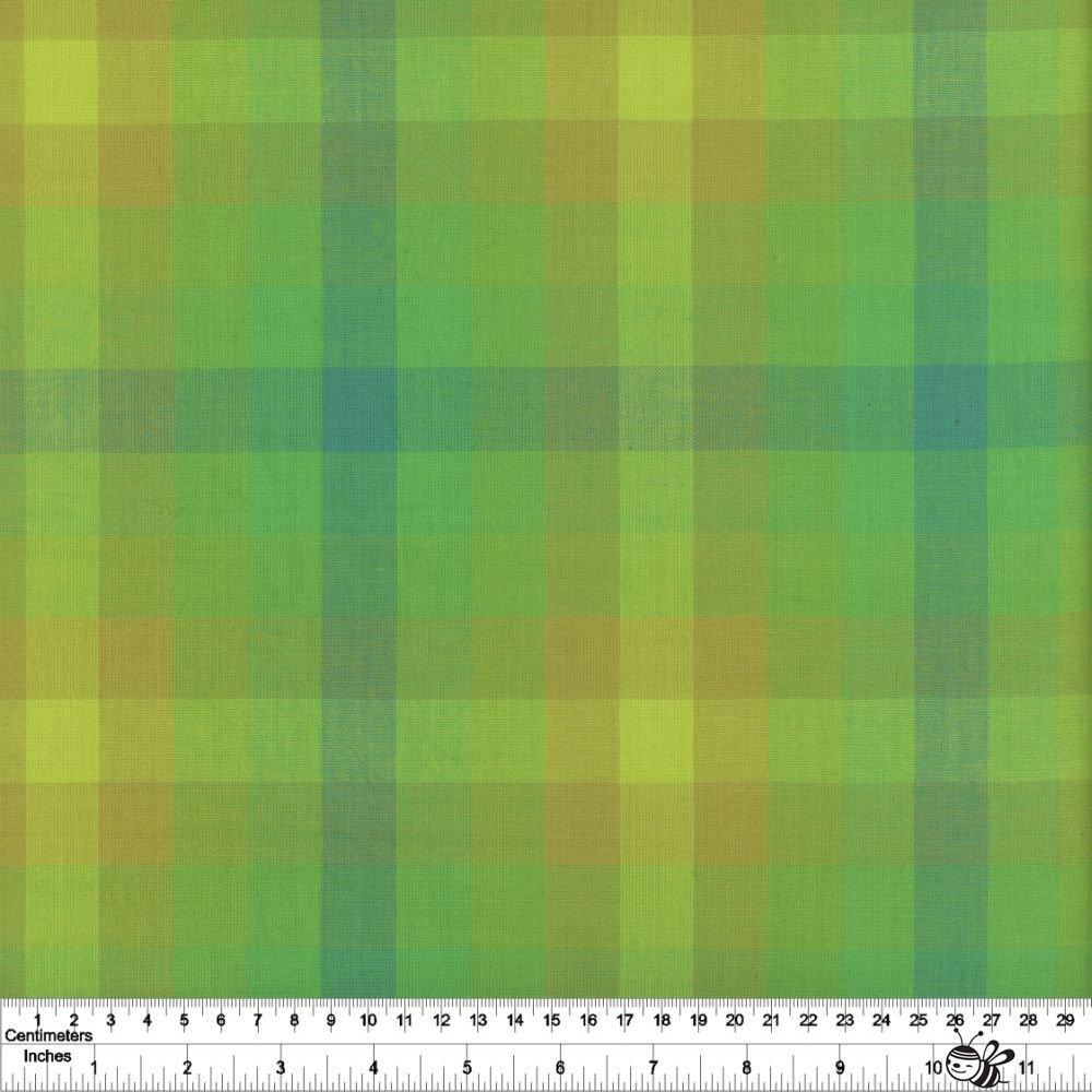 Kaleidoscope Stripes & Plaids - Plaid - Lichen