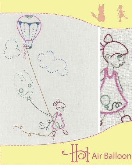 Holly Wolfe Embroidery Kit - Hot Air Balloon