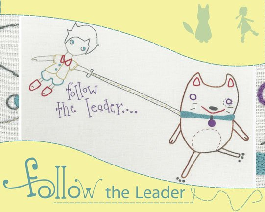Holly Wolfe Embroidery Kit - Follow the Leader