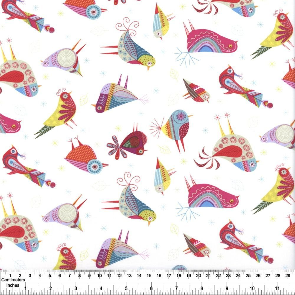 Summer Sampler - Stitch Birds - White