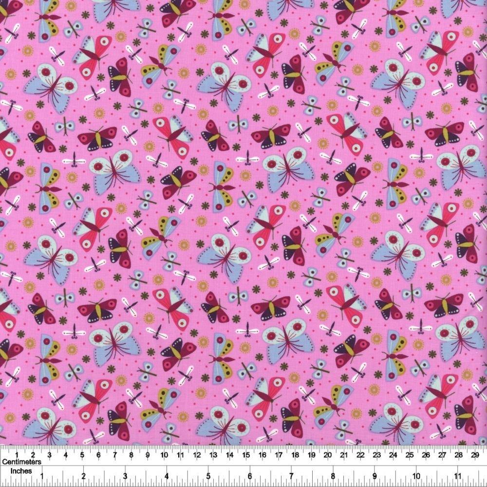 Summer Sampler - Butterflies - Pink