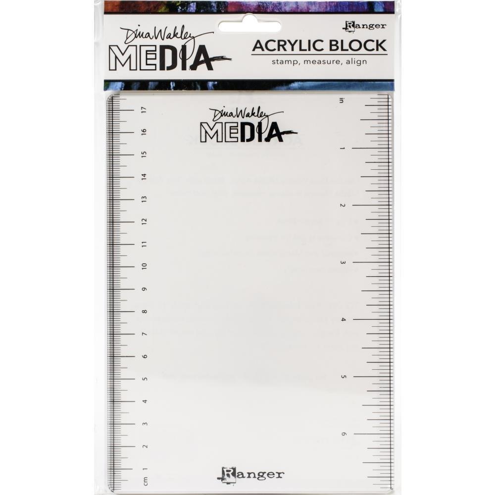 Dina Wakley Meida Stamping Block 5X7-5X7