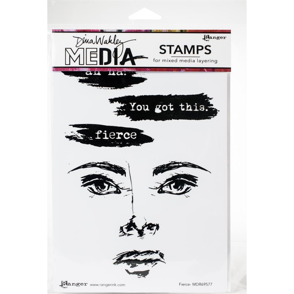 Dina Wakley Media Cling Stamps 6X9-Fierce