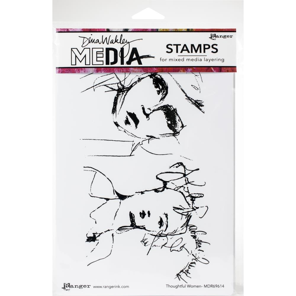 Dina Wakley Media Cling Stamps 6X9-Thoughtful Women