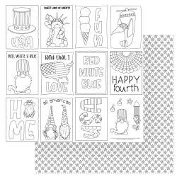 Gnome For July 4th Double-Sided Cardstock 12X12-Color Me
