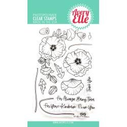 Avery Elle Clear Stamp Set 4X6-Poppies