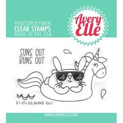 Avery Elle Clear Stamp Set 2X3-Suns Out