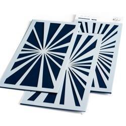 Slimline Layered Starburst Stencil Set