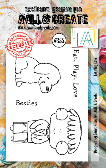 AALL & Create Stamps- Eat, Play, Love
