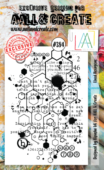 AALL & Create Stamps- Lined Hexagons
