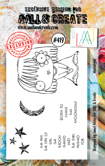 AALL & Create Stamps- Moonlight