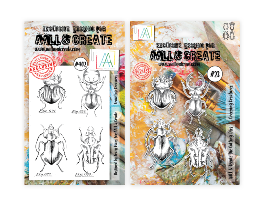 AALL & Create Creeping Creatures Stamp and Die