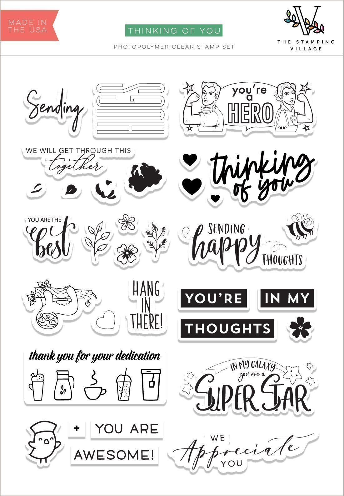 The Stamping Village: Thinking of You Stamp Set