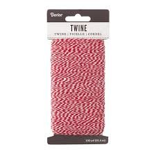 Darice Baker's Twine; Red and White