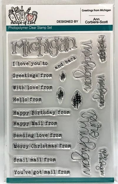Custom Stamp - Greetings From Michigan