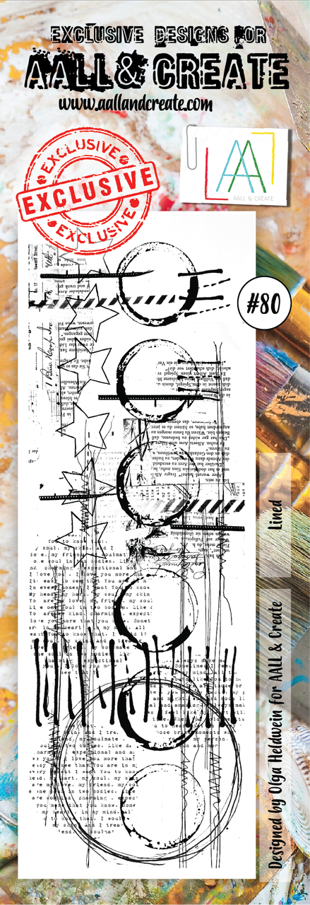 AALL & Create Border Stamps- Lined