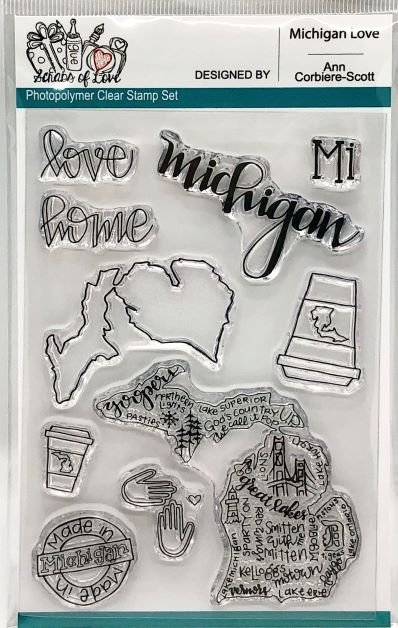 Custom Stamp - Michigan Love