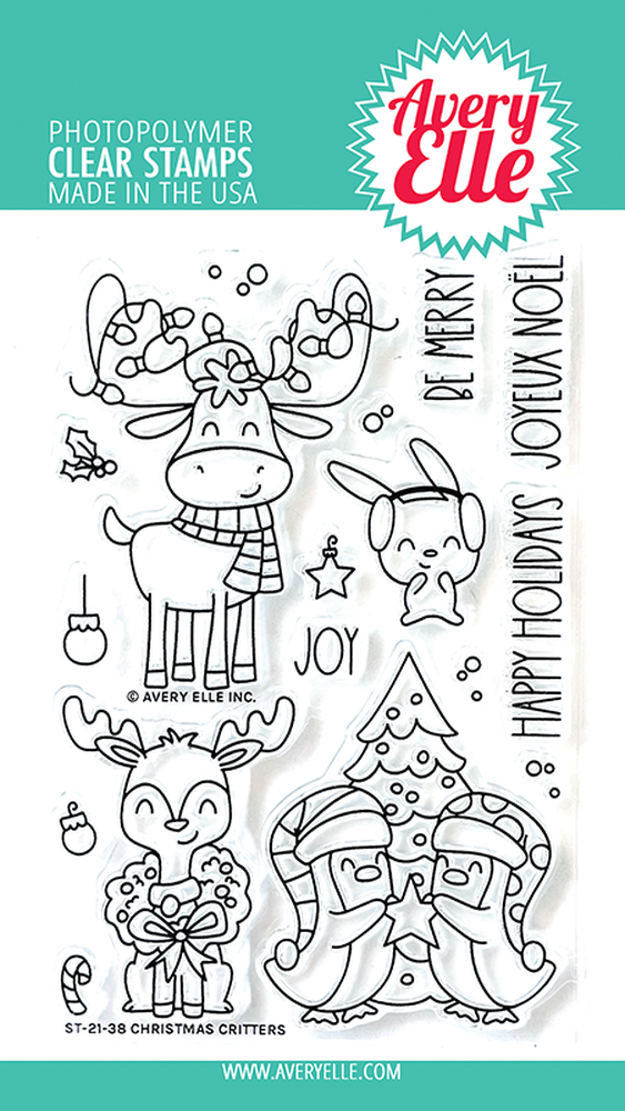 Christmas Critters Clear Stamp