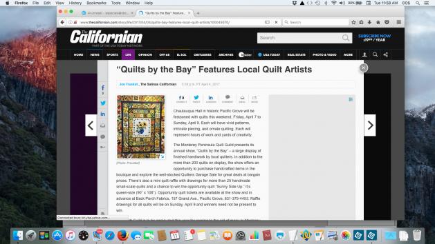 Screen shot of Salinas Californian article