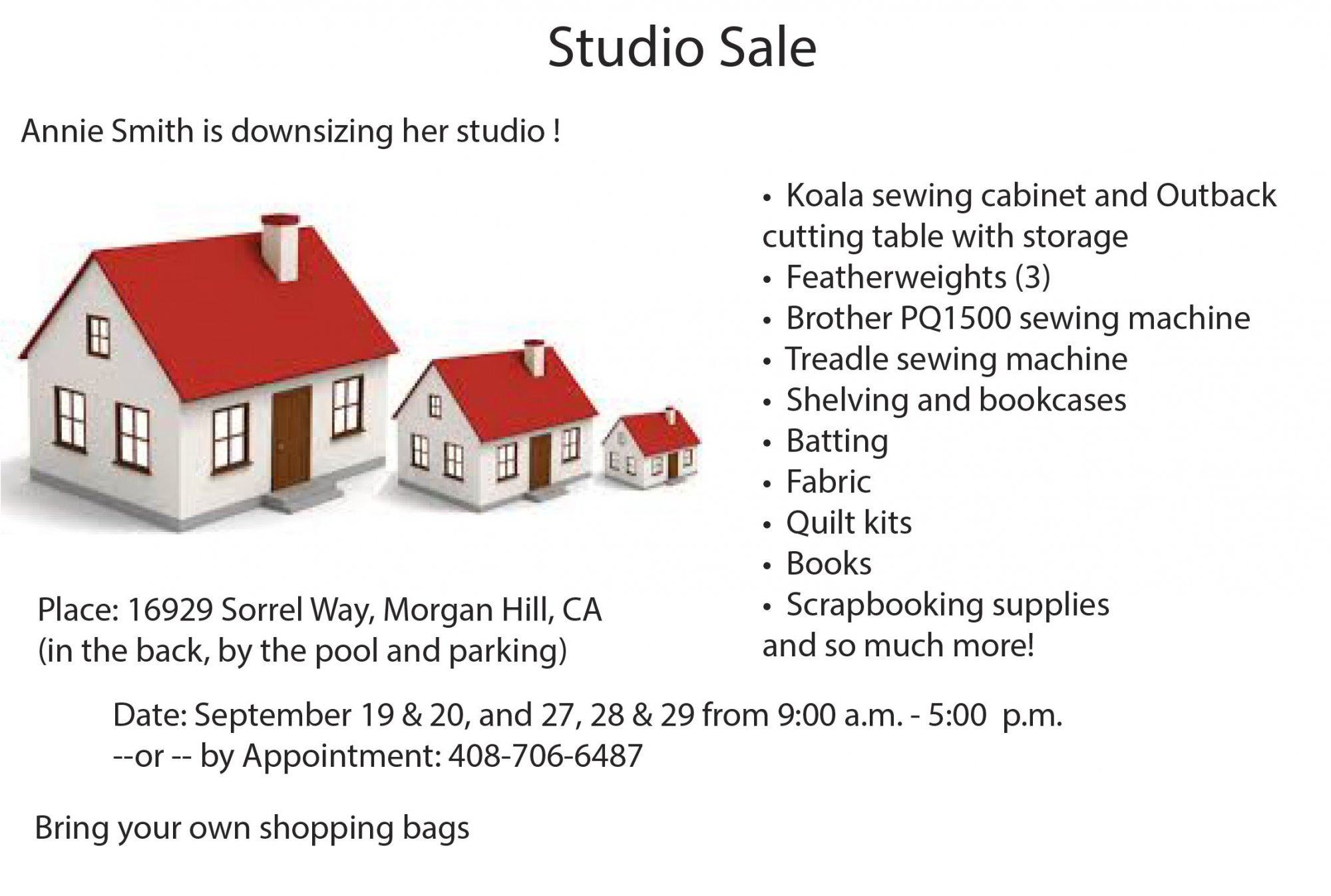 Annie Smith Studio Sale