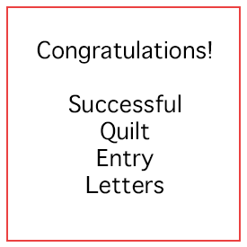 quilt entry letters