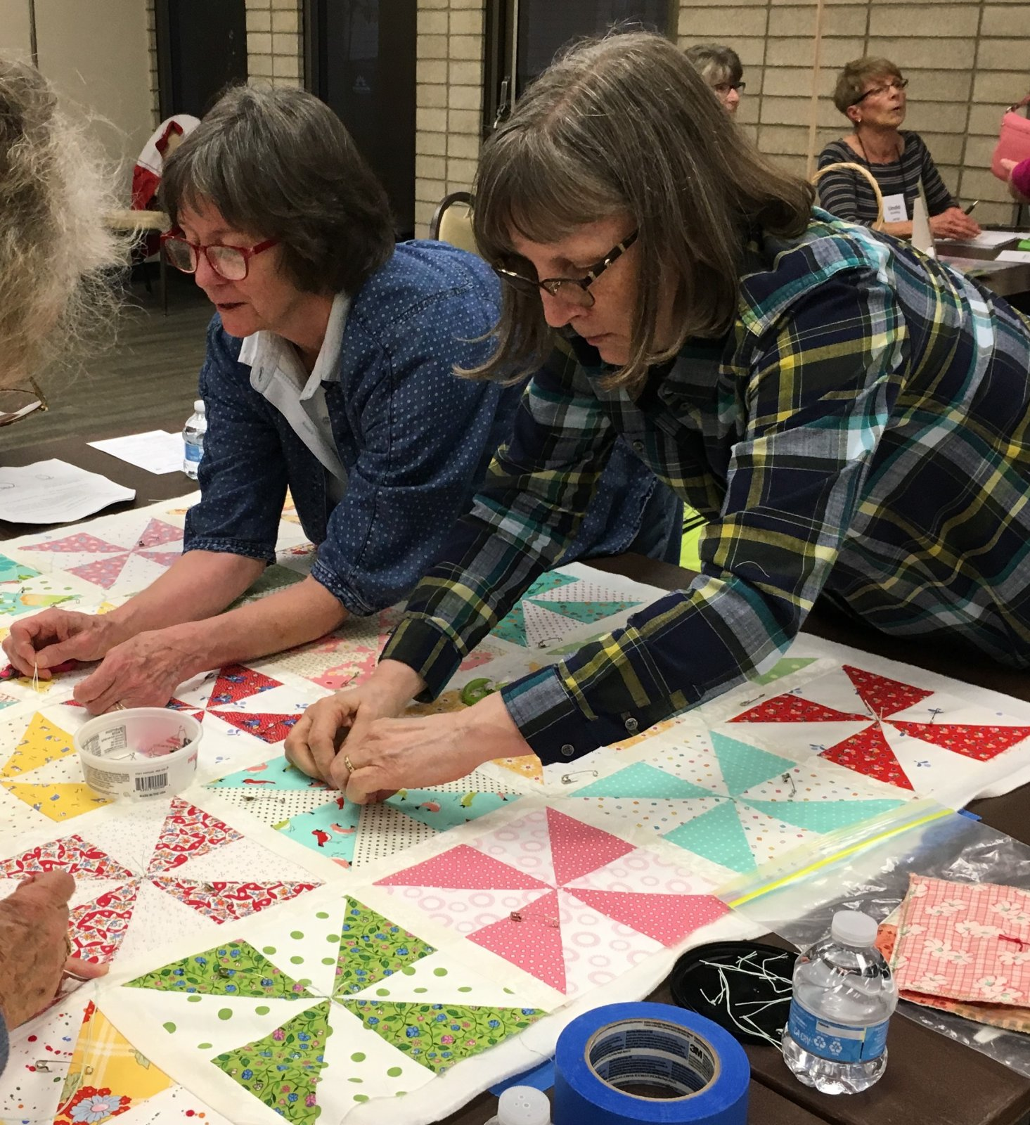 quilt tying event
