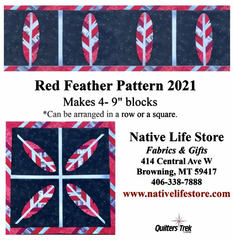 Quilter's Trek 2021 Red Feather pattern