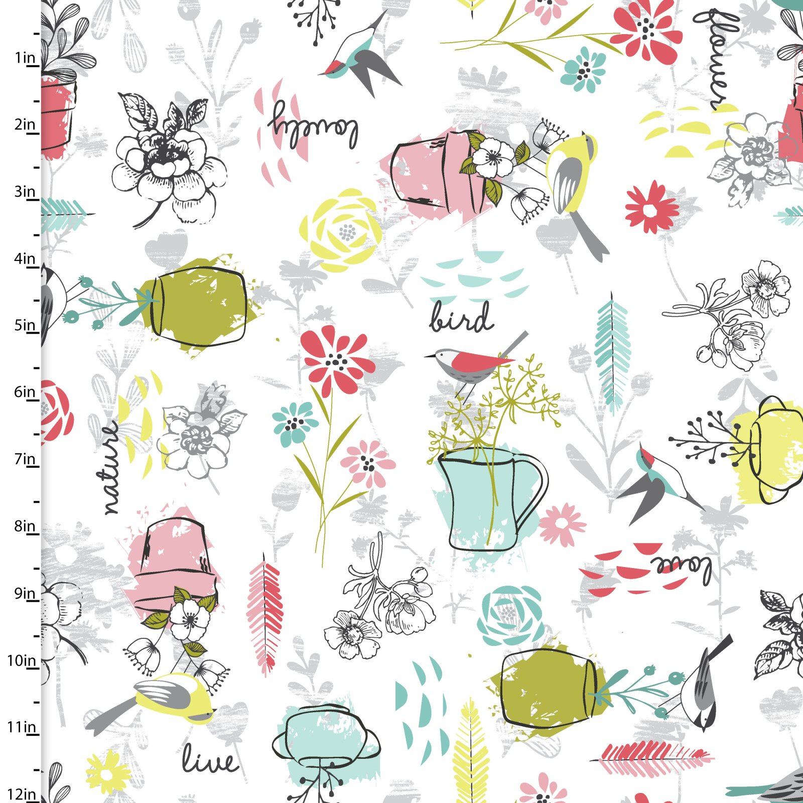Nature Birds Collection<br>11651-WHITE