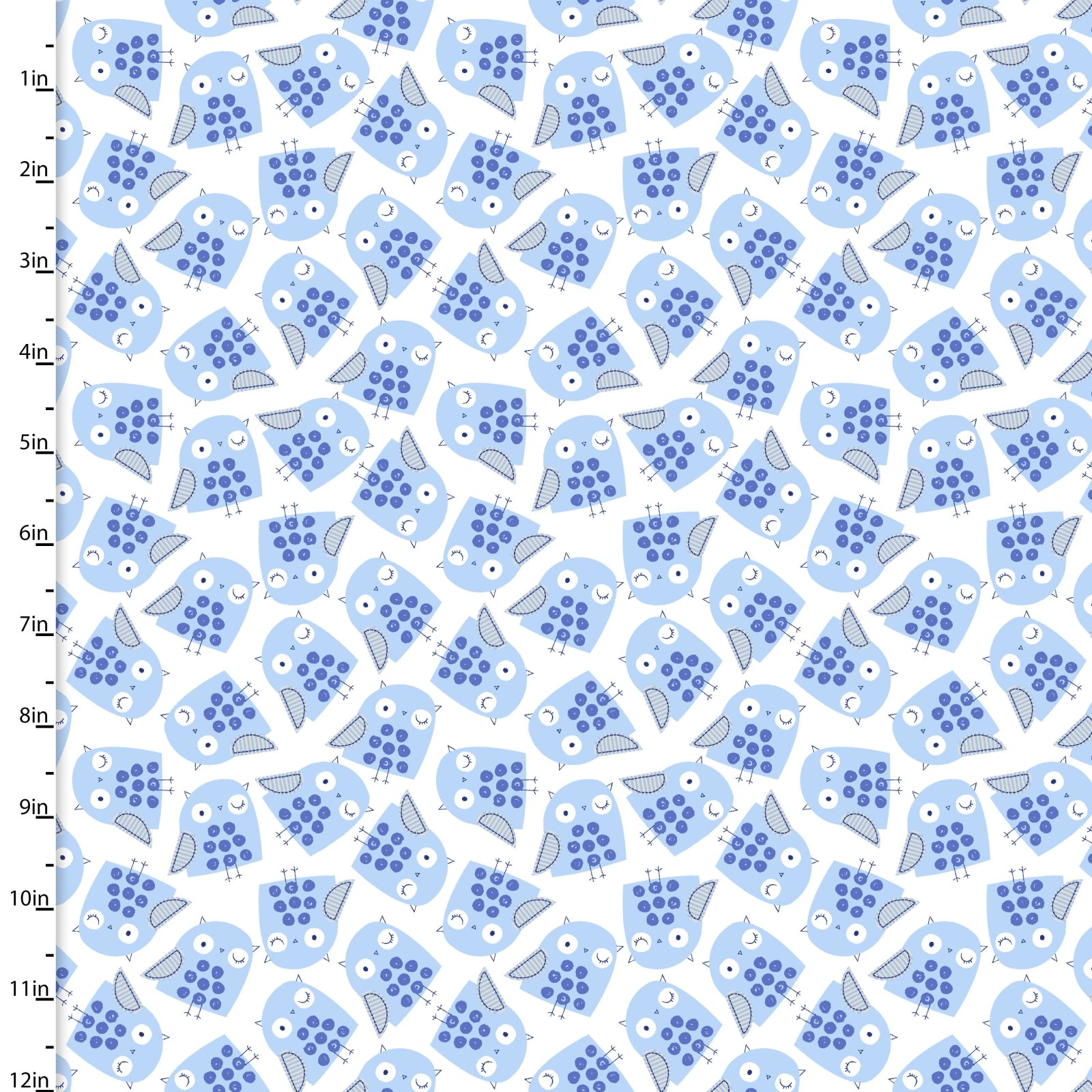 Zippy Zoo Blue Collection<br>10747-WHITE