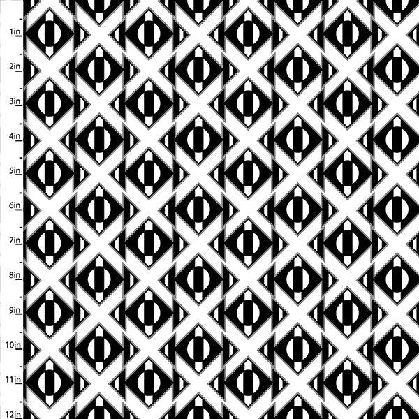 Black & White Geo Collection<br>12770-White
