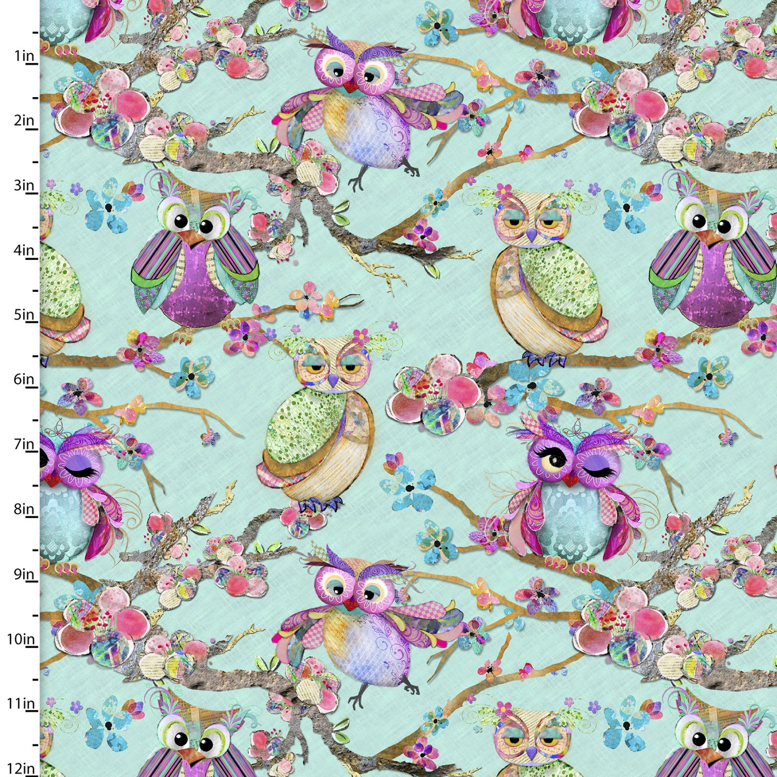 Boho Owls Collection<br>13784-Mint
