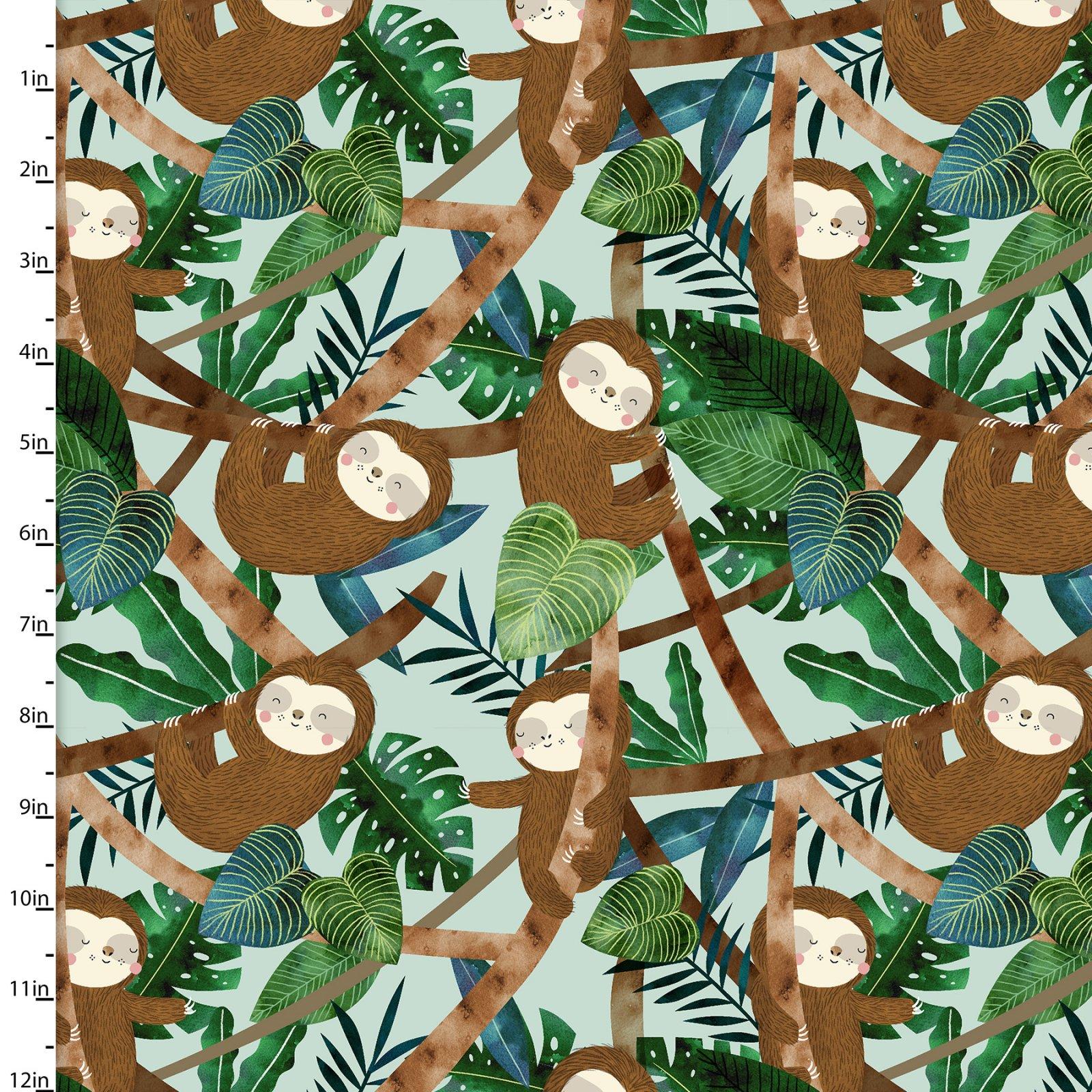 Restful Sloths Collection<br>13860-TEAL