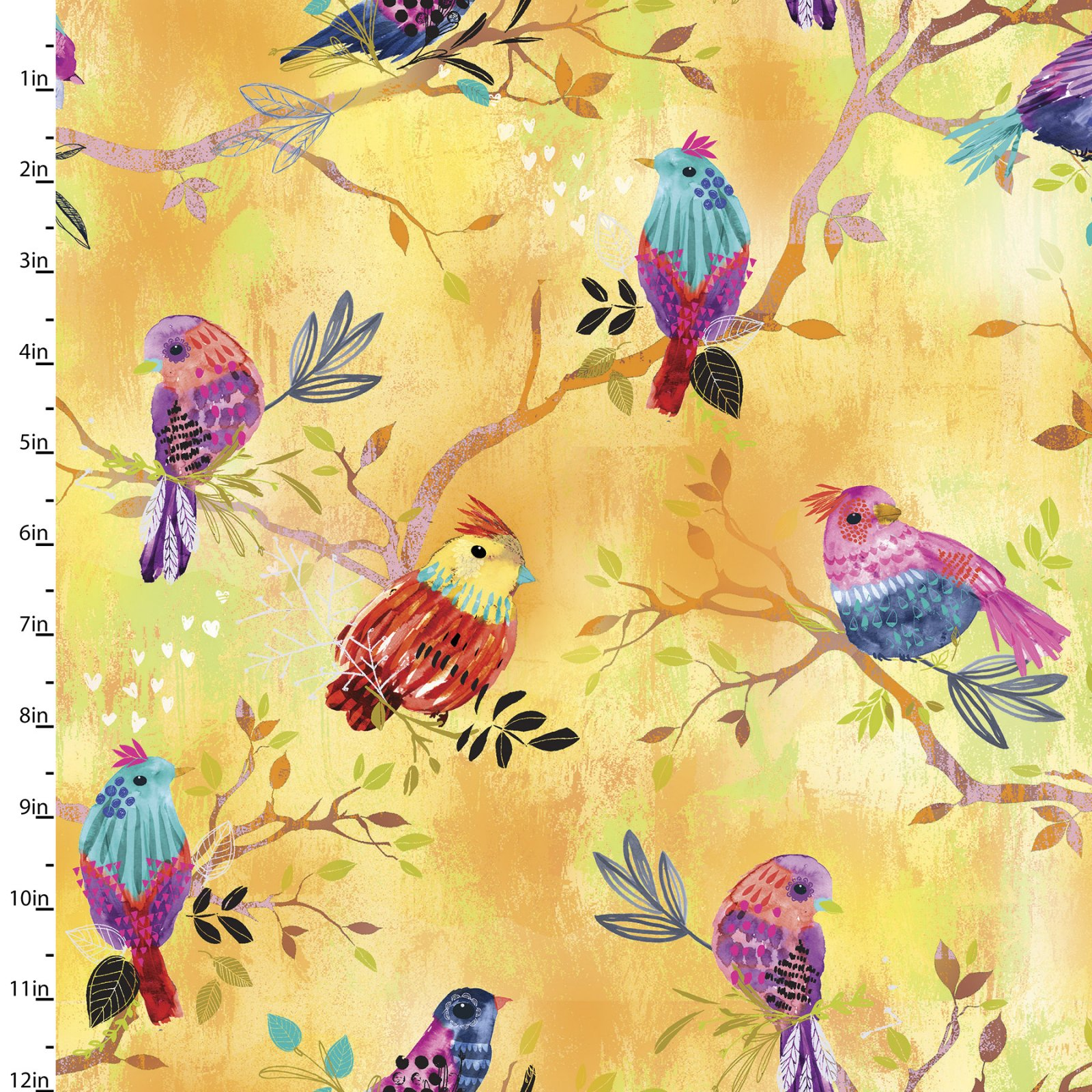 Bright Birds Collection<br>14992-YELLOW