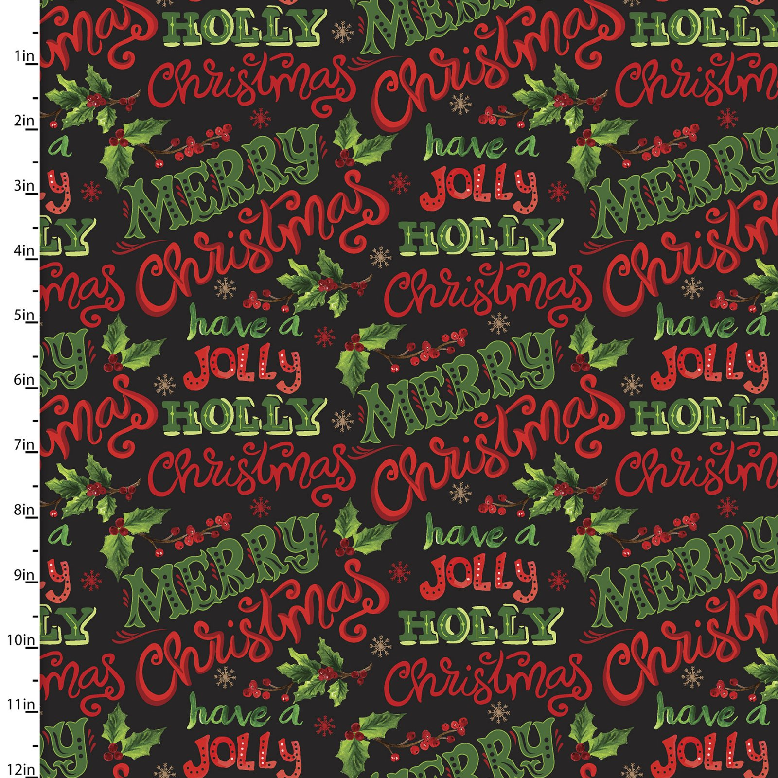 Christmas Floral Collection by Sharon Lee<br>15135-BLACK