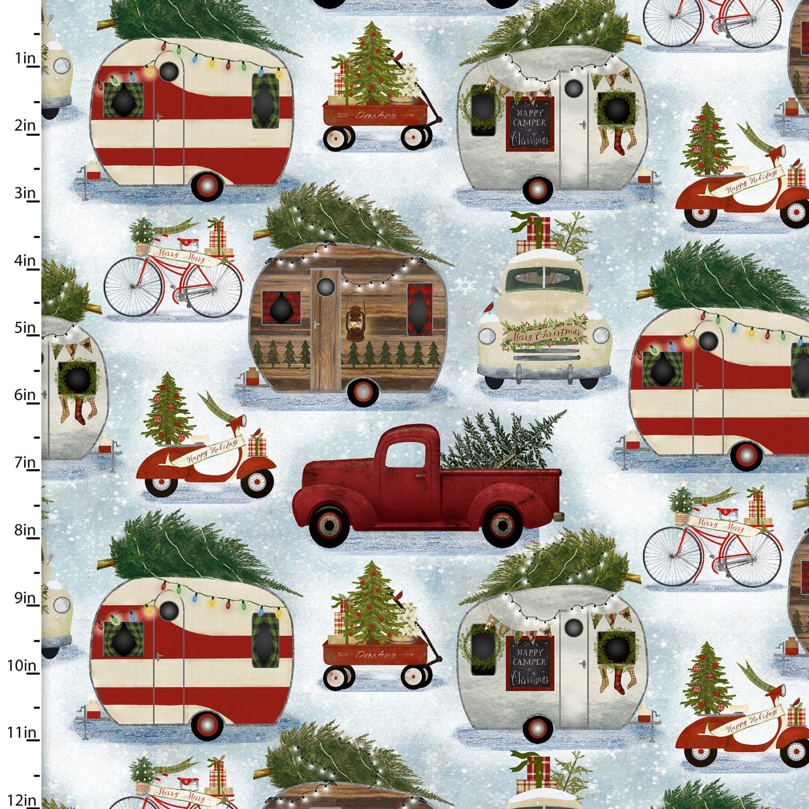 Christmas Campers Collection by Beth Albert<br>15136-BLUE