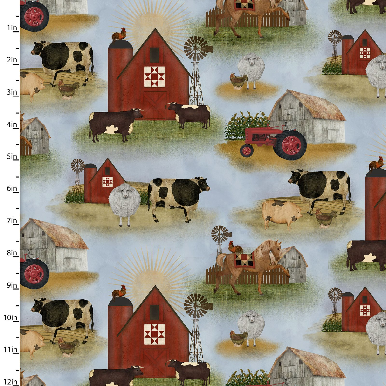 On the Farm Collection<br>16565-BLU-CTN-D