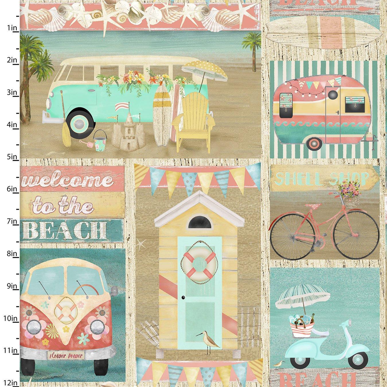 Beach Travel Collection<br>17338-MLT-CTN-D