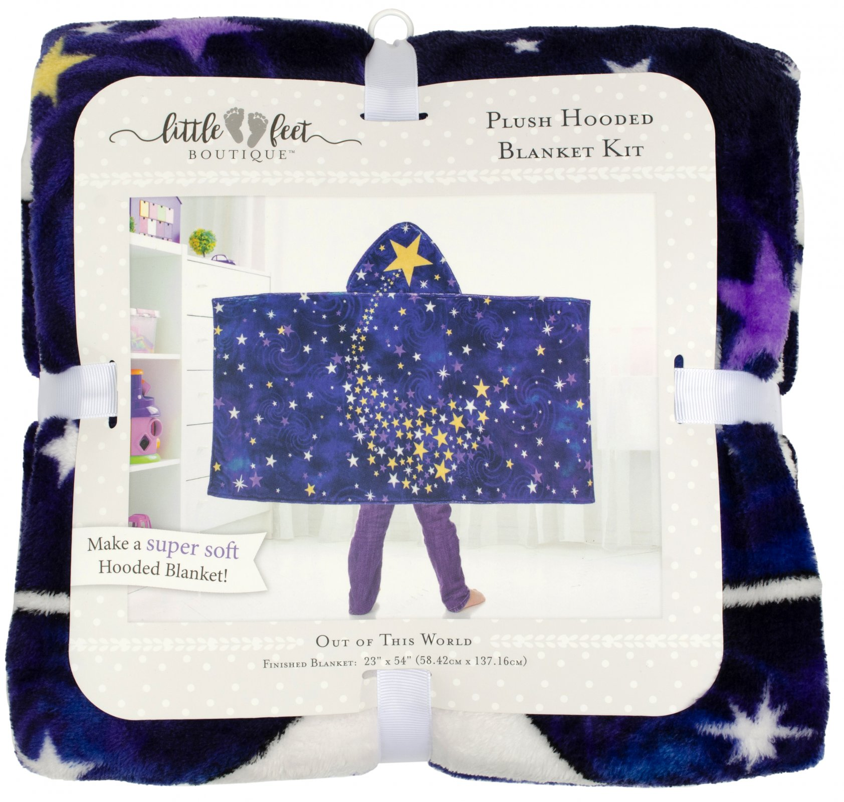 LFB Out of This World<br>Plush Hooded Blanket Kit