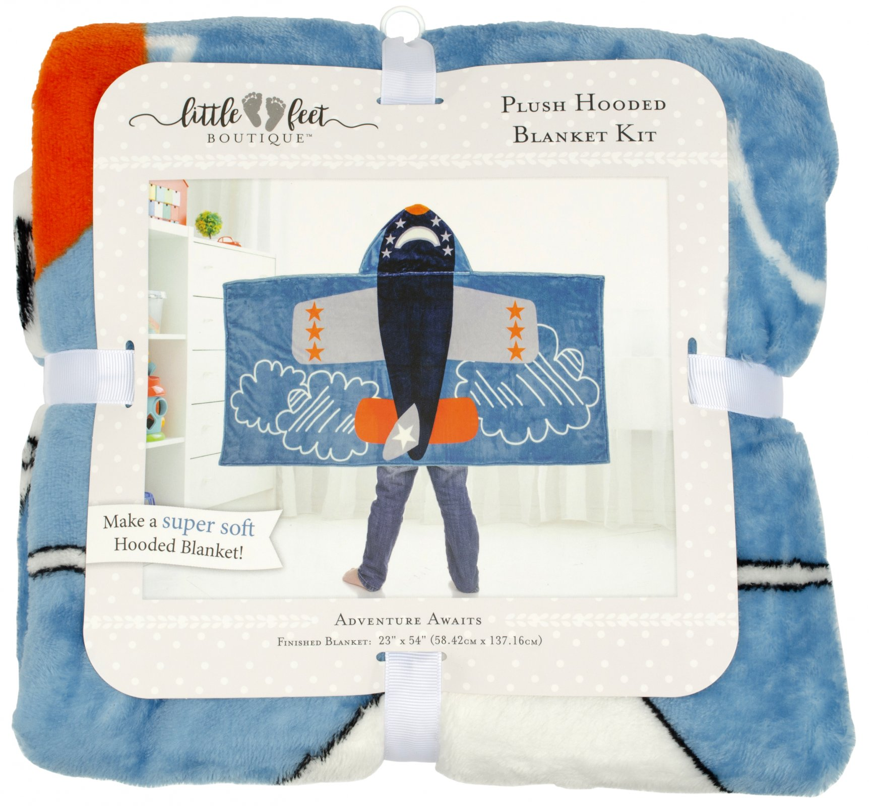 LFB Adventure Awaits<br>Plush Hooded Blanket Kit