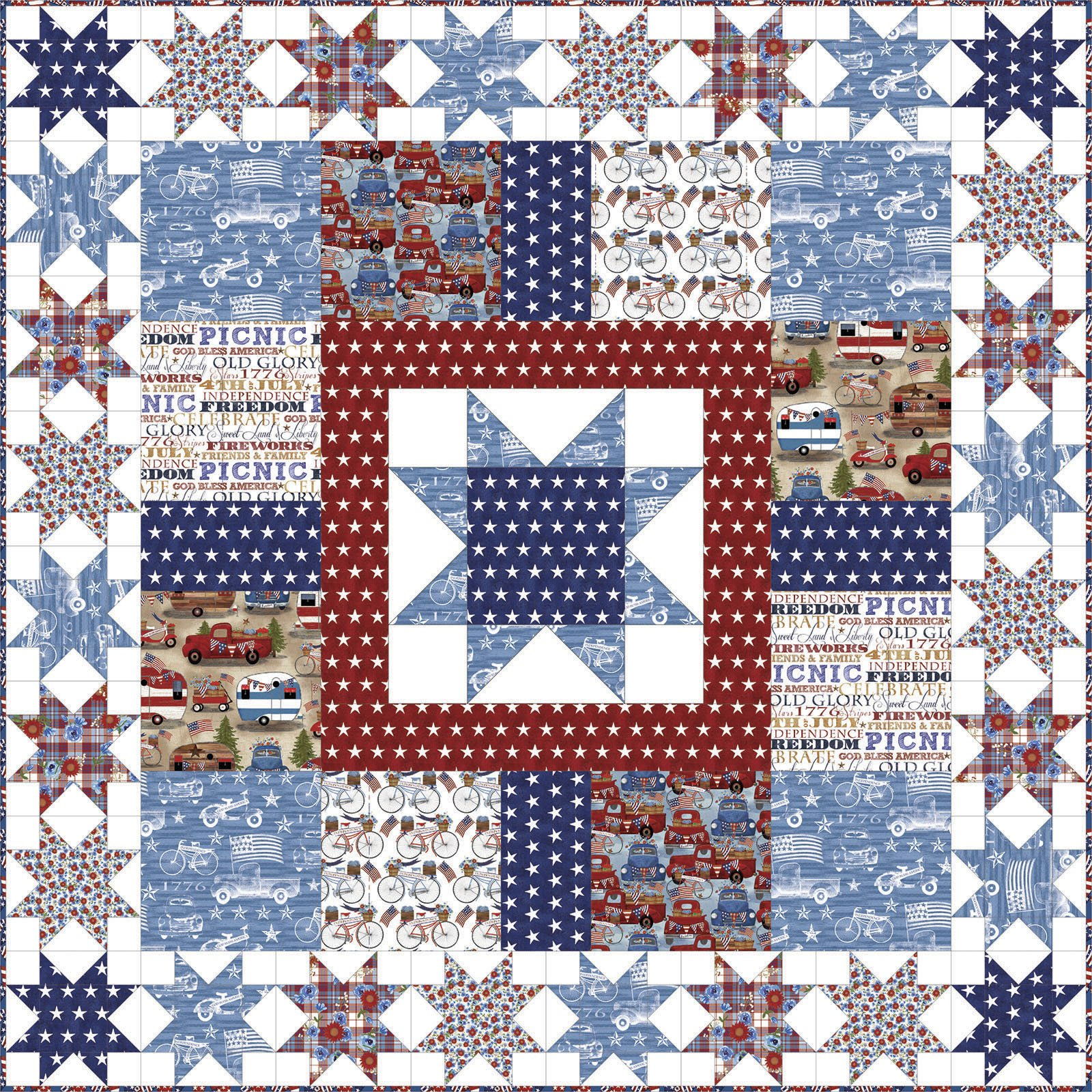 3 Wishes Fabric<br>American Spirit Quilt