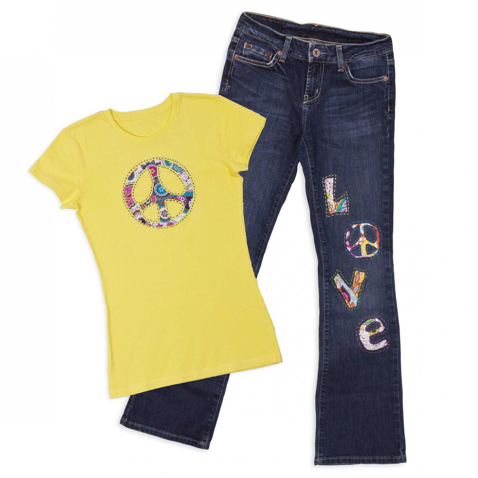 Reverse Applique Jeans & Shirt
