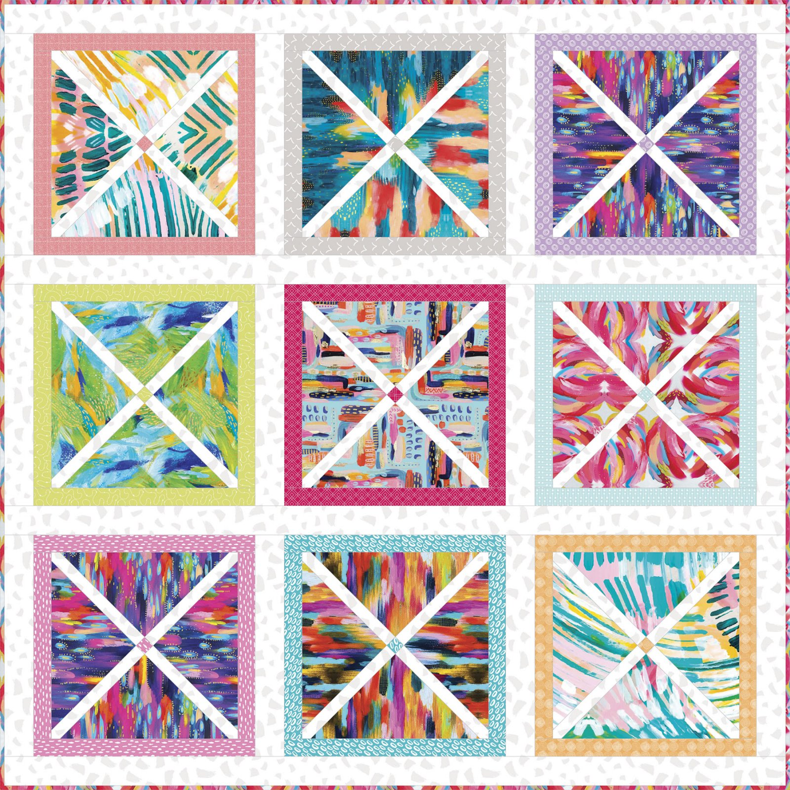 3 Wishes Fabric<br>Artsy Brights Quilt