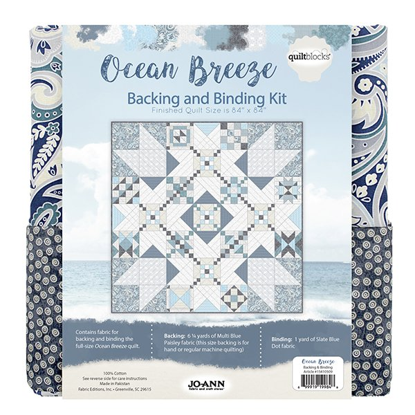 Ocean Breeze<br>Backing and Binding Kit
