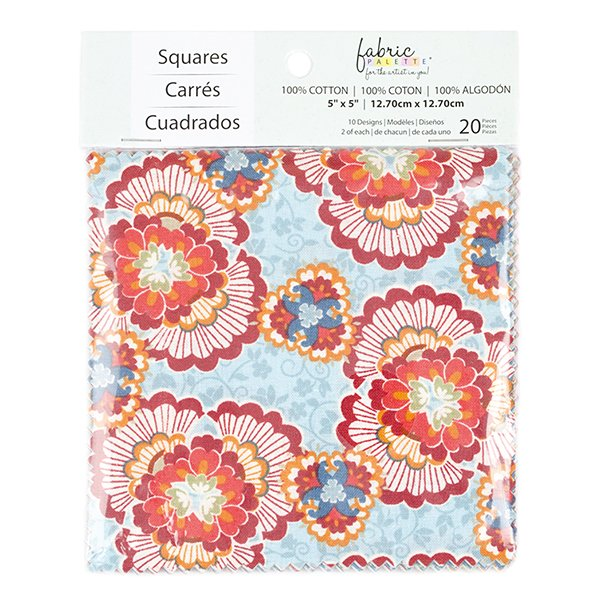 Fabric Palette 20pc Squares Pack<br>Bloomsbury Collection<br>MD-G-CP-TRAD