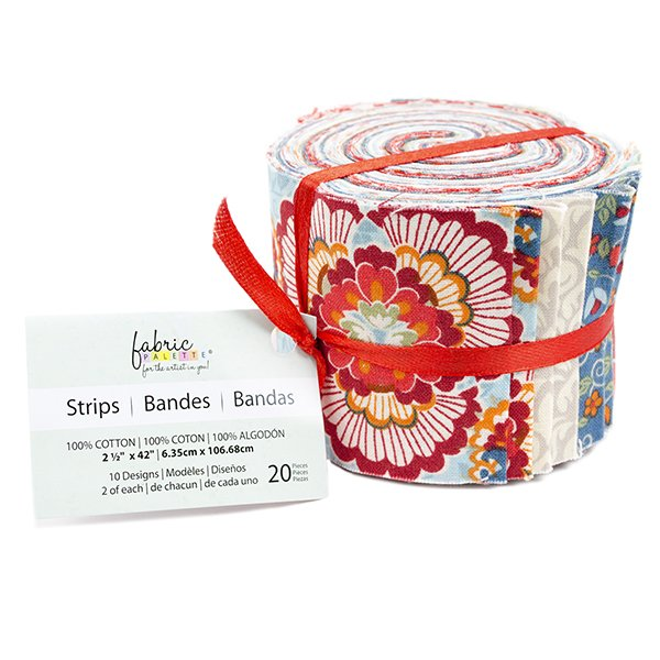 Fabric Palette 20pc Strips Roll<br>Bloomsbury Collection<br>MD-G-JL-TRAD